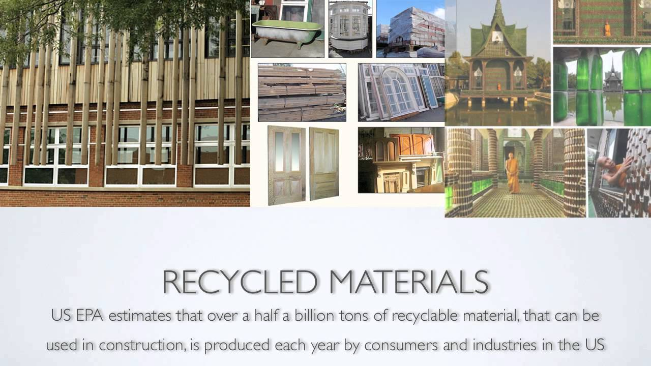 Sustainable building materials segment 3 youtube List of materials to build a house
