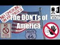 Visit America - The DON'Ts of Visiting The USA