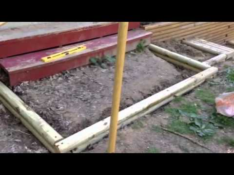 Landscaping Timber Retaining Walls And Stairs   YouTube