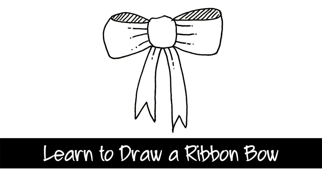 Learn to Draw a Ribbon Bow - quick and easy doodle drawing - YouTube