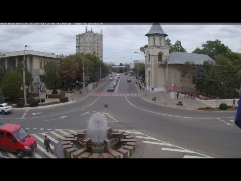 Bârlad Online www.b-o.ro live view from City Hall on E-Road 581, Romania. 4K UHD