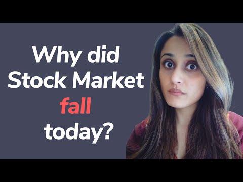 Why did Stock Market fall today | Stock Market Crash | Latest share market news #shorts