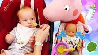 Еда для Беби Бон и Карла от Маши Капуки - Видео про малышей Мамина школа