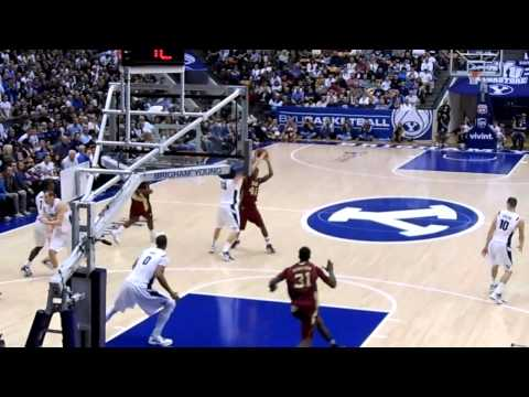 Santa Clara @ BYU dunk #31 Niyi Harrison for SCU, lay-up Davies, transition 3 Charles Abouo
