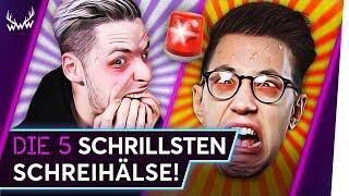 Die 5 SCHRILLSTEN YouTube-Schreihälse! | TOP 5