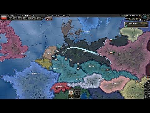German Civil War? Poland Invades UK? (Hoi4 Poland Timelapse)