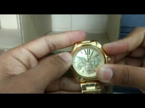 ceb6aab3a Como Ajustar e alinhar cronometro do relogio Michael Kors 5605 - YouTube