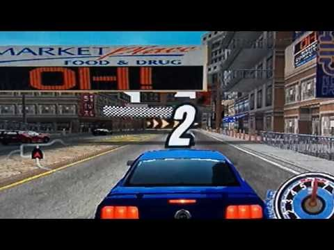 Ford vs. Chevy - Downtown Circuit 1 - Single Race (PS2 Gameplay)