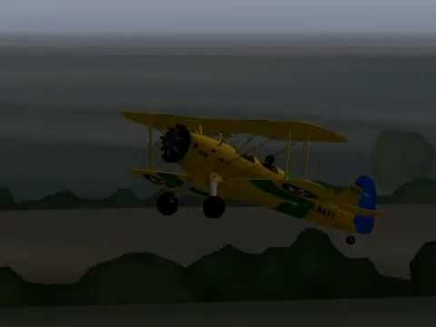 Stearman N2S-1 Kaydet - Test in X-plane