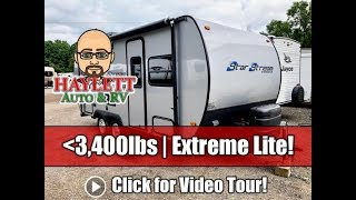 Used 2007 Starcraft Star Stream 19RB Wacky Pill Shaped Ultralite Couple's Travel Trailer