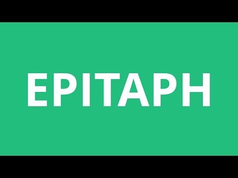 How To Pronounce Epitaph - Pronunciation Academy