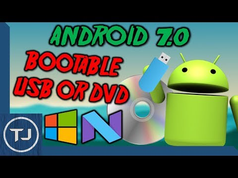 """How To Make A Bootable Android 7.0 """"Nougat"""" USB/DVD! Easy Tutorial!"""