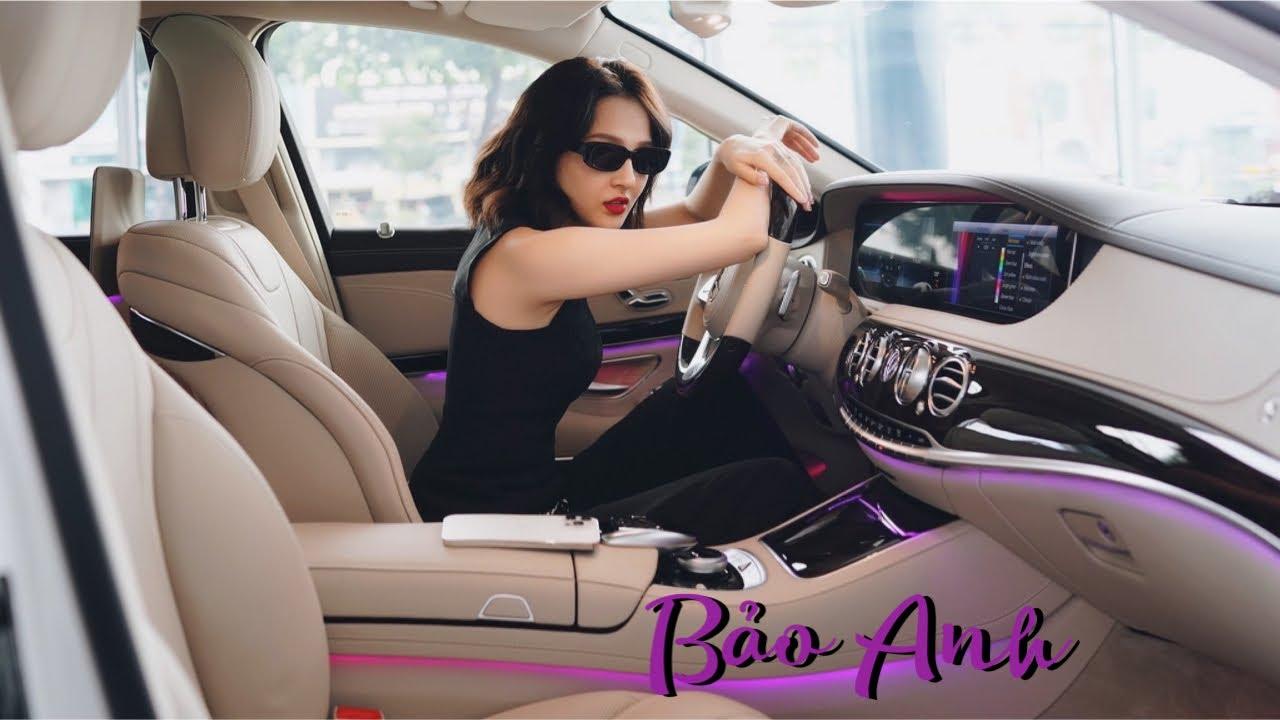Ca sĩ Bảo Anh tươi rói, khoe giọng hát nhận xế cưng Mercedes S450 vào chiều thu tháng Mười