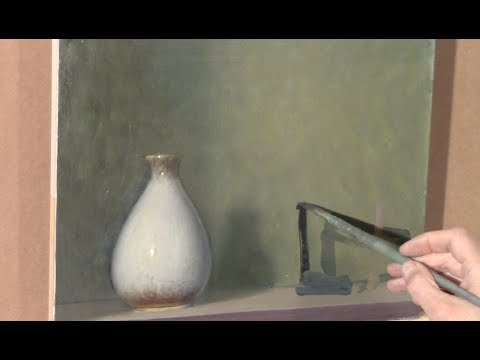 a not-so-still life with white vase