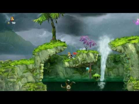 Rayman Legends 100% Walkthrough P. 45 - Jibberish Jungle - Geyser Blast / Hi-Ho Moskito!