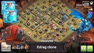 Perfect HDV12 vs HDV12 / Electro dragon + spell clone Clash of Clans
