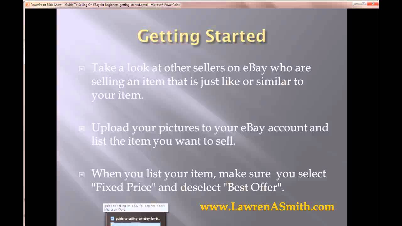 Guide To Selling On Ebay For Beginners Getting Started Youtube