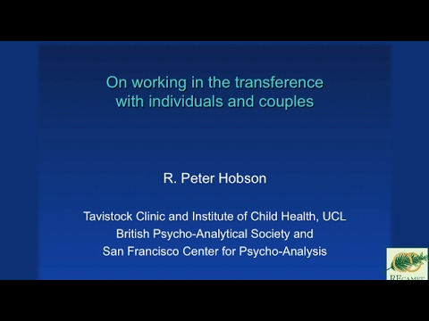On Working In The Transference With Individuals And Couples By R