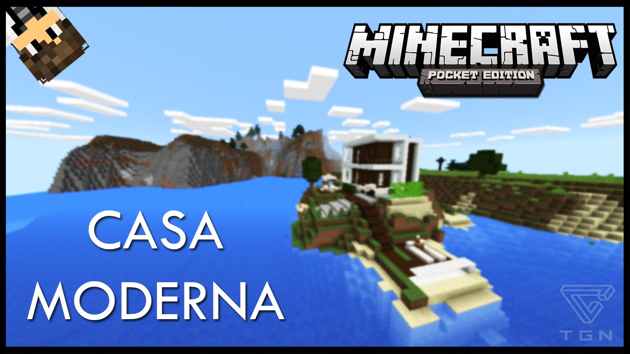 Casa moderna en una isla minecraft pe youtube for Casa moderna minecraft 0 12 1