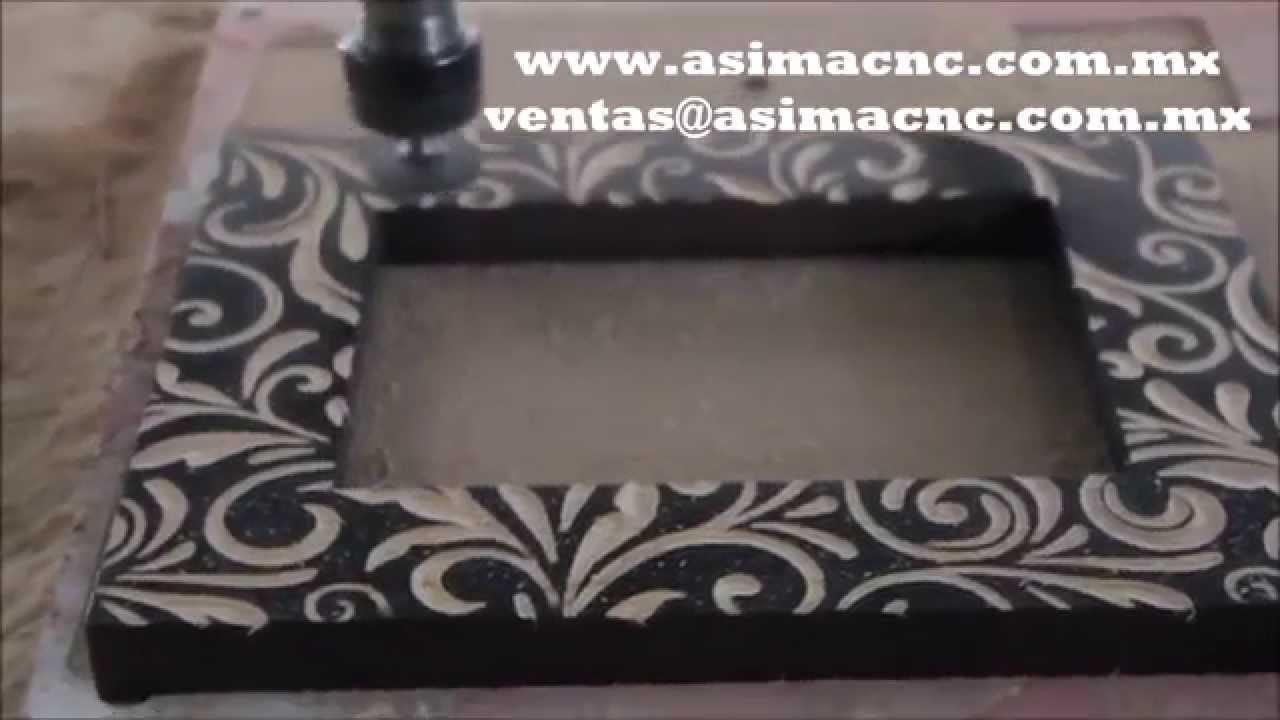 Marcos grabado de madera pino tipo talavera - YouTube