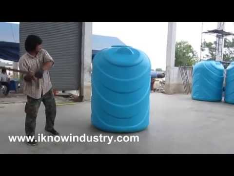 Quality Testing For Blow Molded Water Tank Youtube