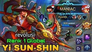 MANIAC!! YSS MENGAMUK!  ITEM PALING SAKIT Top 1 Global Yi Sun Shin by revolusi - Mobile Legends