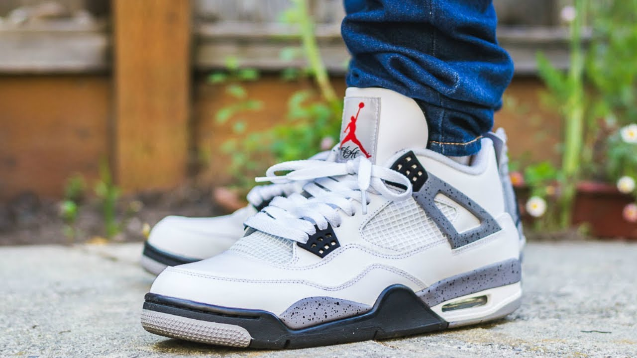 a6f30c95 DH Gate Air Jordan 4 OG White Cement Review On Feet - YouTube