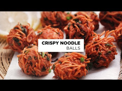 Crispy Noodle Balls recipe (Quick Kids Snacks Recipe)