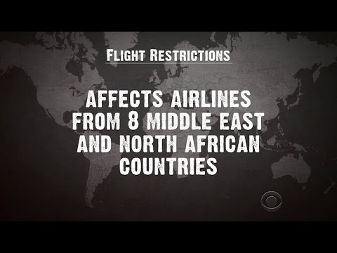 U.S. barring some Middle Eastern airlines from allowing electronics on board