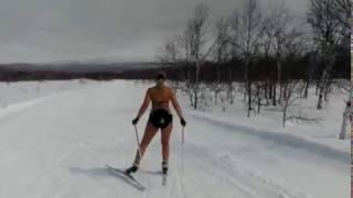 Камчатка. Лыжница, которую невозможно обогнать