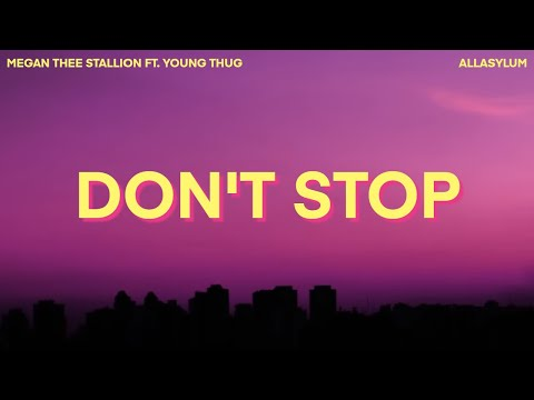 Megan Thee Stallion - Don't Stop (Lyrics) ft. Young Thug