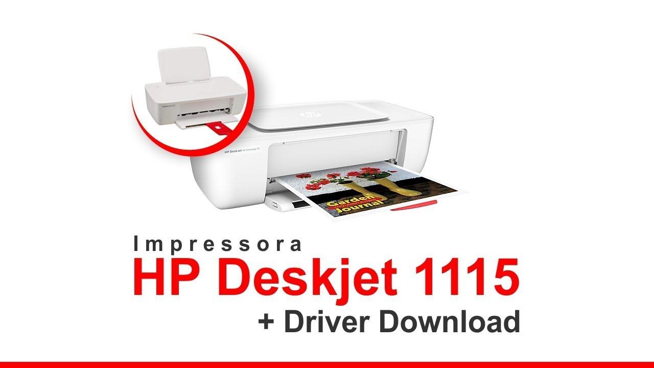 Impressora Hp Deskjet Ink Advantage Color 1115 Link Driver Youtube