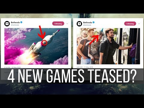 Bethesda is Teasing 4 NEW GAMES on Twitter
