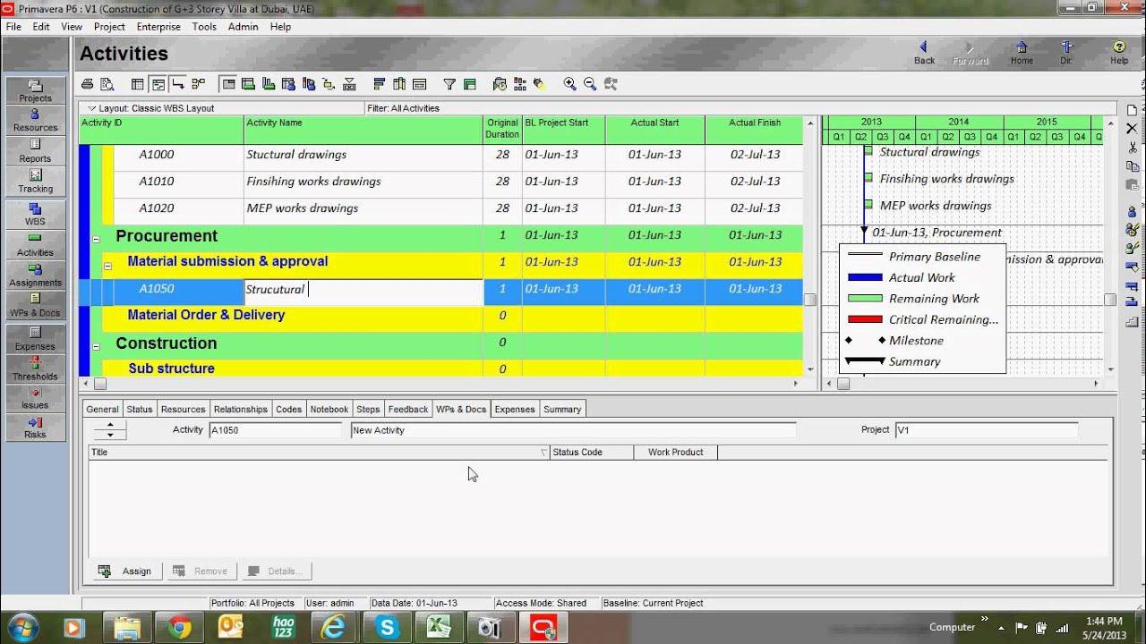 Primavera tutorial how to create activities youtube baditri Image collections