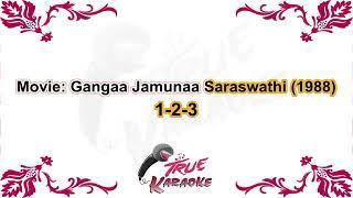 (80's Song) Saajan Mere Uss Par | Karaoke With Lyrics | Lata Mangeshkar | Gangaa Jamunaa Saraswathi