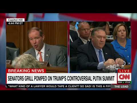 Sec. Of State Pompeo Schools Dem. Senator On Trump's Tough Russia Policy