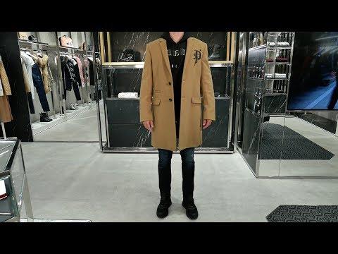 Total-look от P.Plein: пальто Gothic P, худи Black Road, джинсы Hard Work, кроссовки Side Skull