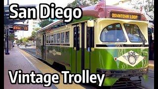 ⁴ᴷ San Diego Trolley - Silver Line Vintage PCC