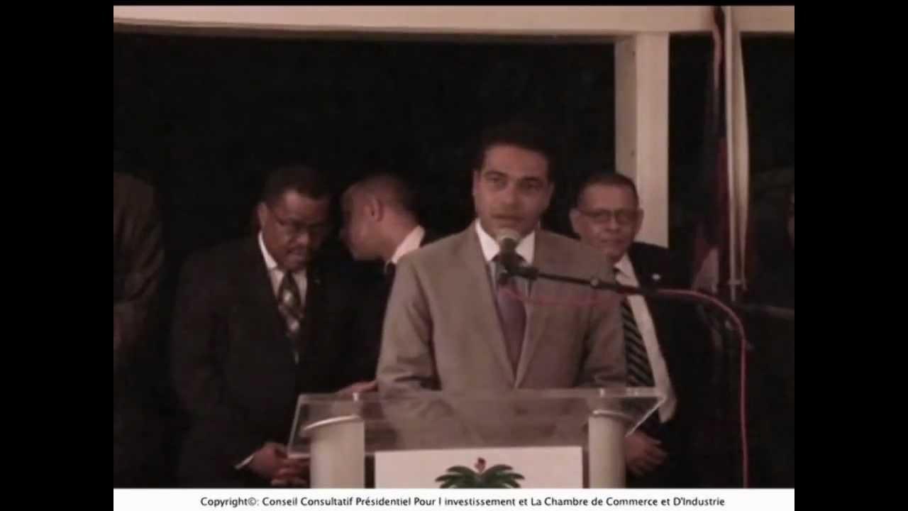 Jerry tardieu introduit michaelle jean janvier 2012 for Chambre de commerce d haiti