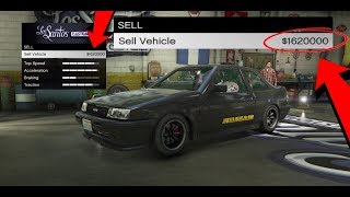 How To Sell Any Street Car For $900,000 In GTA 5 Online! (GTA 5 Online Money Glitch) 100% legit 1.42