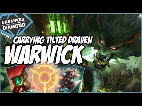 CARRYING EARLY WITH WARWICK WITH A TILTED DRAVEN - Unranked to Diamond - Ep. 111 | League of Legends