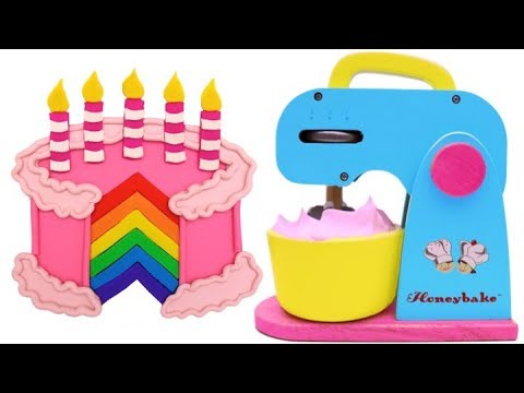 Thumbnail: Learn Colors with Play Doh and Mixer Playset Making Birthday Cake for Kids