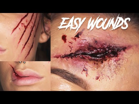Easy Wounds Halloween Makeup Tutorial
