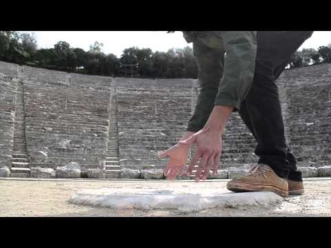 Epidavros theatre acoustics - stamping and clapping hands
