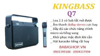 Loa mini Kingbass Q7 nhỏ gọn hát karaoke hay nhất hiện nay