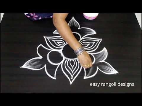 Freehand Kolam designs   How to draw rangoli without dots   Latest muggulu