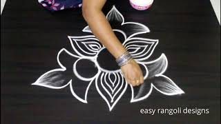 Freehand Kolam designs | How to draw rangoli without dots | Latest muggulu
