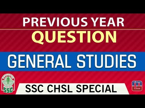 Previous Year Questions | Day 1 | General Studies | SSC CHSL | CGL Special