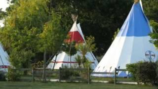 Les tipis du Camping La Rotonde-Le Village Western (Hourtin)