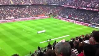 San Siro: Inno Milan. Opening for AC Milan v Roma. 24/03/12
